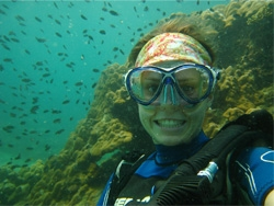 photo of woman scuba diving