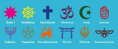 Symbols of different faiths
