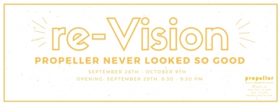 re-Vision exhibition logo