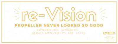 re-Vision exhibition logo