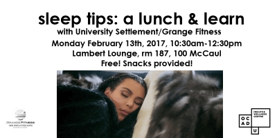 Sleep Tips: Lunch & Learn