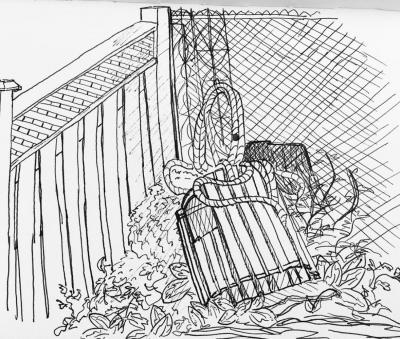 Backyard Sketch by Sam Bertram
