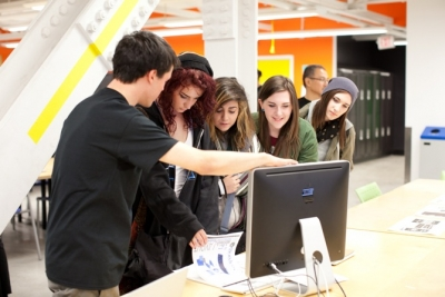 Students participating in A Look Inside