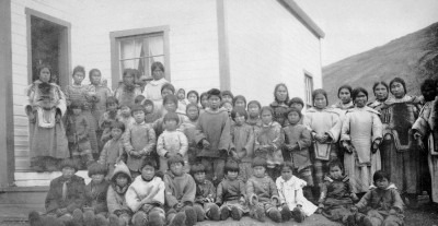 Richard S. Finnie, Pangnirtung Federal Hostel and Day School (now Nunavut), 1927, Library and Archives Canada