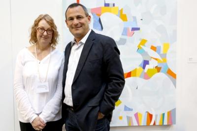 Artist Jessamyn Kahn and Dori J. Segal, President and CEO of First Capital Realty Inc. Photo by Martin Iskander.