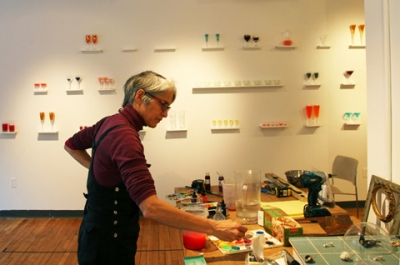 Heather Nicol at work. Image provided by Heather Nicol