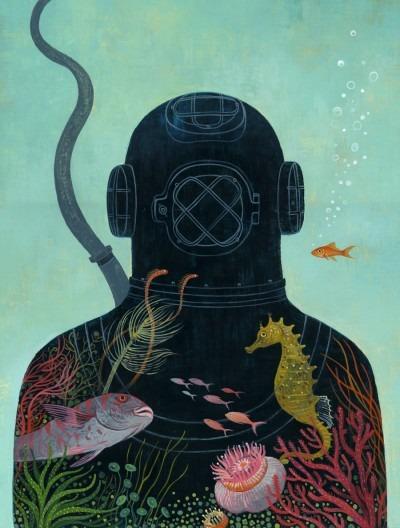 """Go Deep"" Artwork by Jody Hewgill"