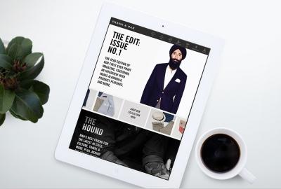 Mobile app on an iPad