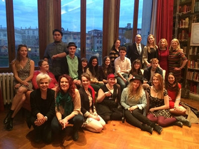 OCAD U Florence students and faculty at the British Institute as part of Shakespeare Week. Photo: Elizabeth Ladly.
