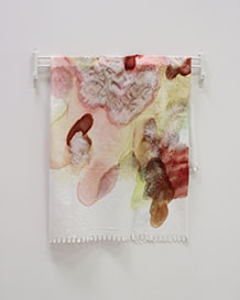 Lisa-Marie Bissonnette, Soak-stained Blanket (2014)