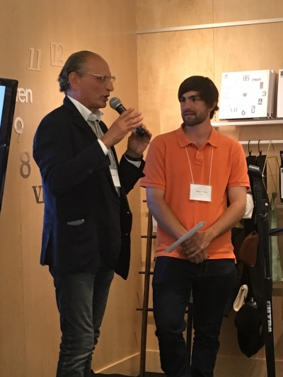 Umbra co-founder Paul Rowan and pitch competition winner Tanner Short