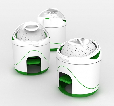 Image of three Drumi washing machines