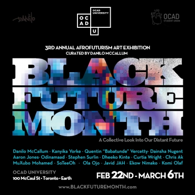 Event poster for Black Future Month