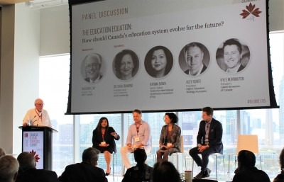 Dr. Sara Diamond (second from right) at Canada Future Forward Summit