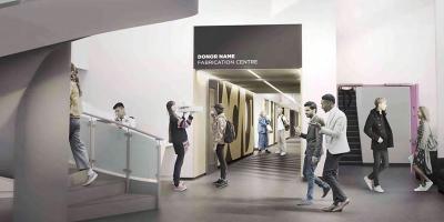 Concept sketch: new Fabrication Centre entrance