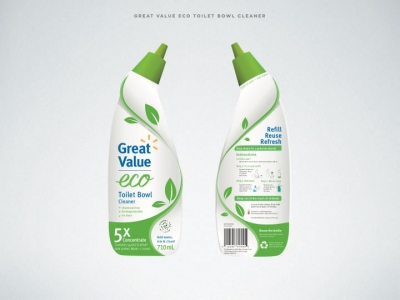 Image of front and back of cleaner packaging