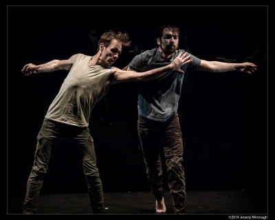Image of two men dancing.