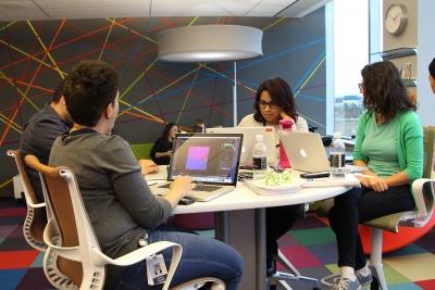 Students at Digital Painting workshop held at MBFS