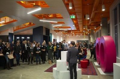 Opening of OCAD U CO executive training facility. Photo by Martin Iskander.