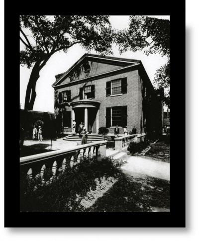 Black & White archival photo of George Reid House