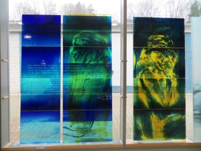 Glass panels from Zones of Immersion installation