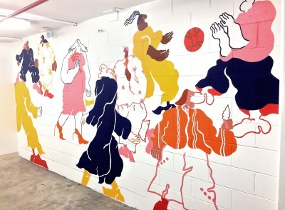 Stairwell mural by Eryn Lougheed