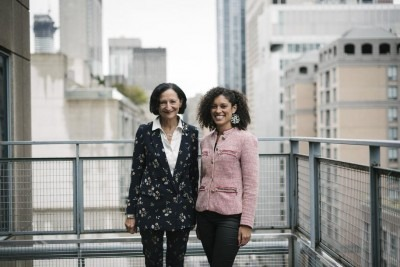 President Sara Diamond, left, and Dr. Alia Weston (photo courtesy: Toronto Star)