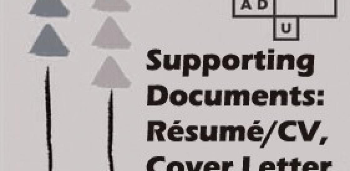 Supporting Documents: Résumé/CV, Cover Letter & Portfolio