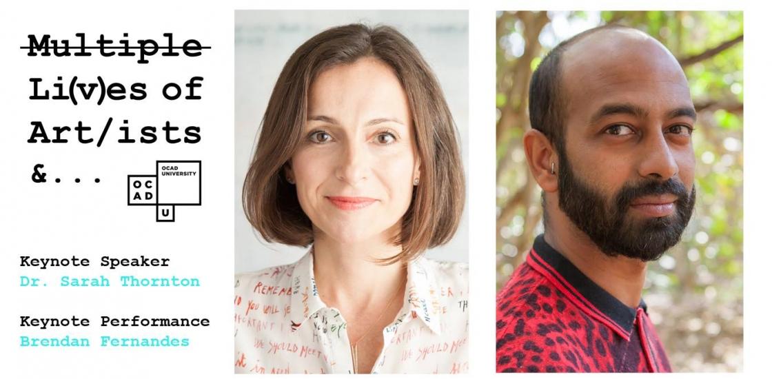 Image of Keynote Presenters Dr Sarah Thorton and Brendan Fernandes