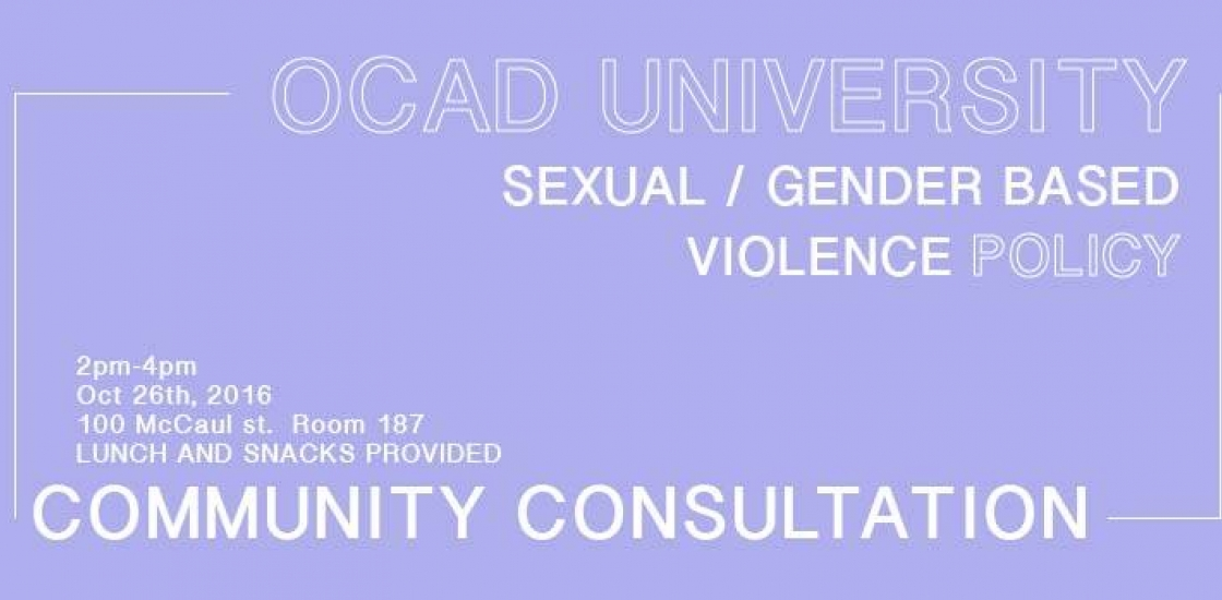 Discussion on Proposed Sexual Violence Policy