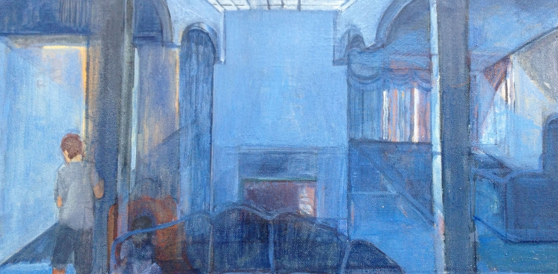 Painting of blue interior