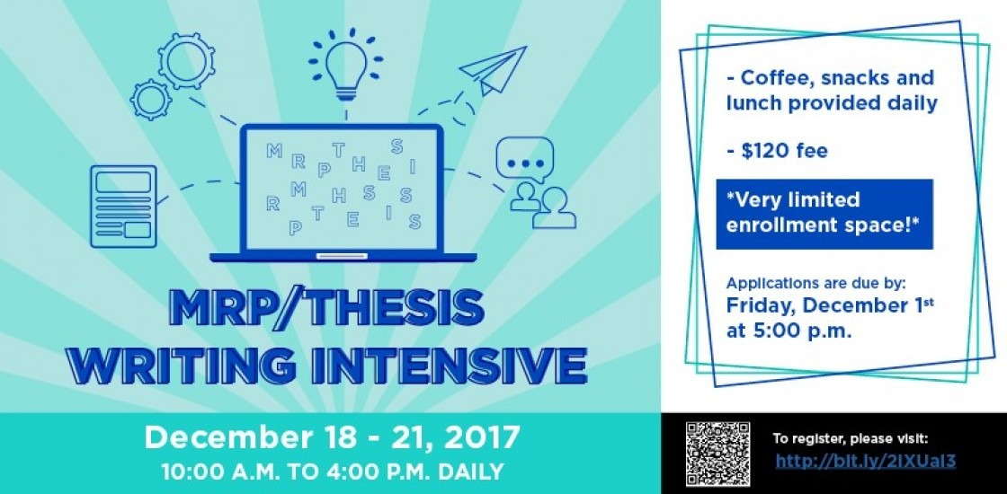 Web Banner for MRP Thesis Intensive