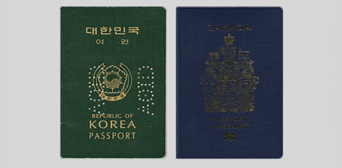 photo of two passports