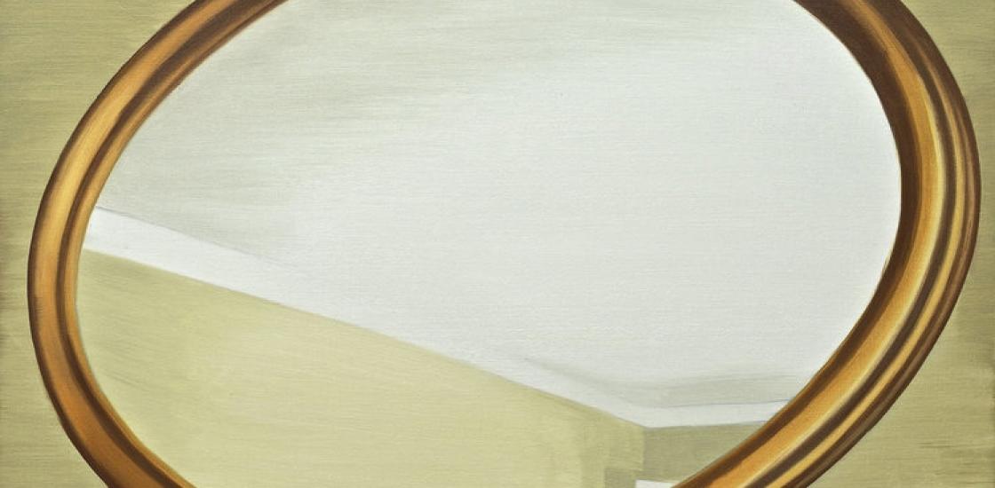 painting_circular frame-like image on background