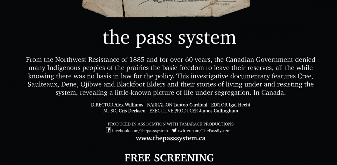 photo of a pass with text
