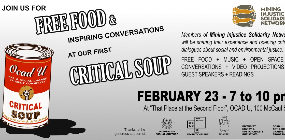Poster with soup can