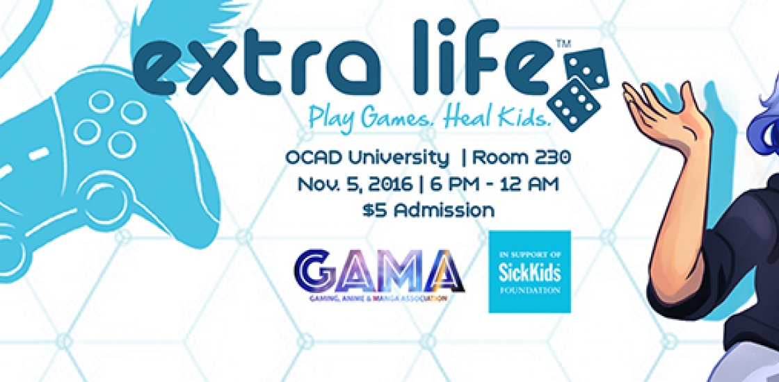 image banner for Extra Life / GAMA event
