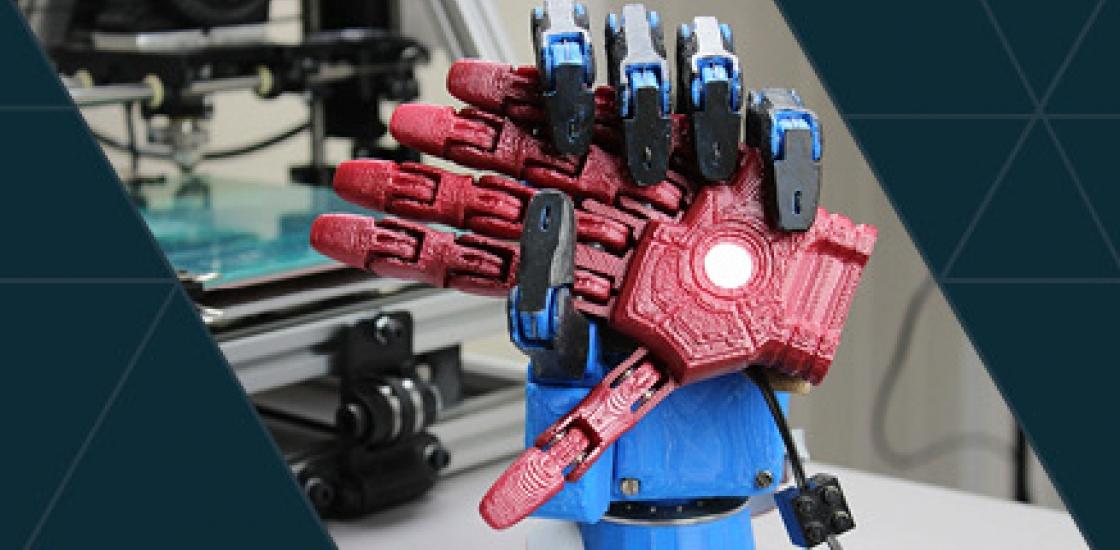 Image of robot hands