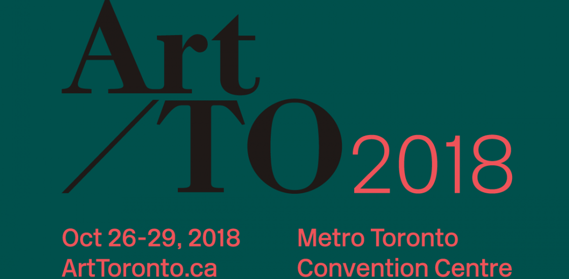 Art Toronto 2018 logo, text on green background