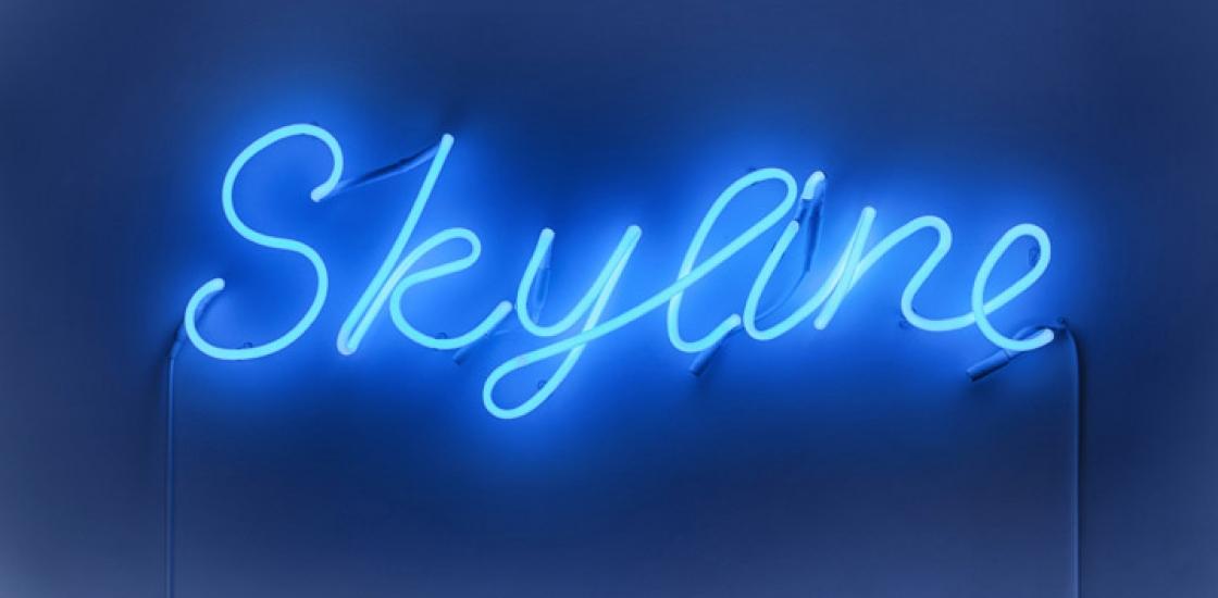 "neon letters ""Skyline"""