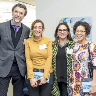 Dean Vlad Spicanovic with exhibiting artists