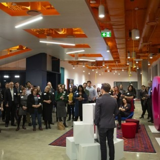 Opening of OCAD U CO executive training facility. Photo by Martin Iskander.