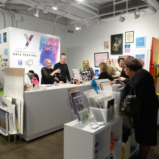 Picture of the interior of OCAD U pop up shop