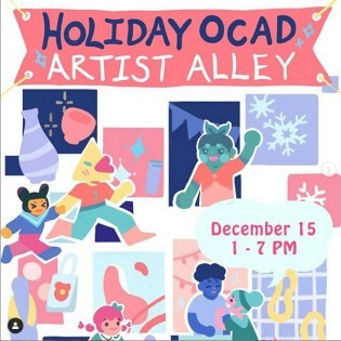 Holiday OCAD Artist Alley graphic 2019