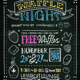 Waffle Night poster November 2019