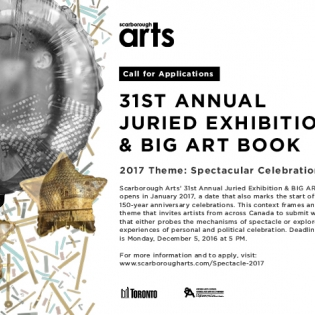 Call for Submissions to OCAD students: Scarborough Arts 31st Annual Juried Exhibition & Big Book Art.