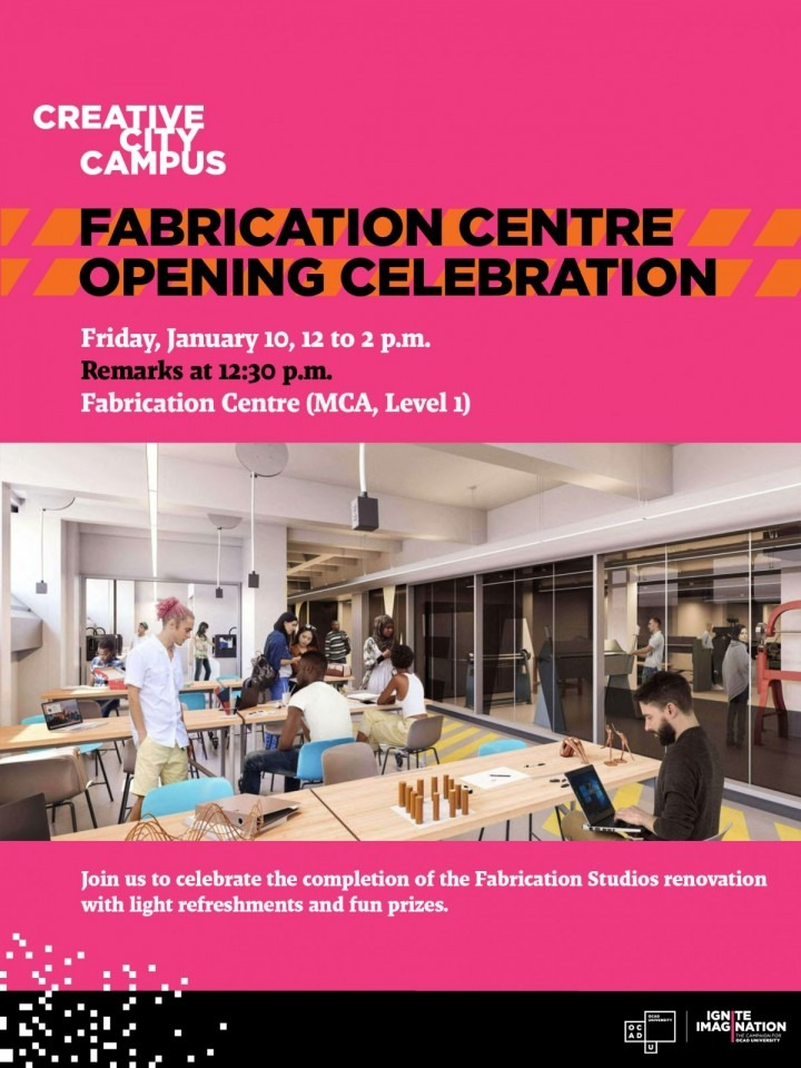 Invitation to Fabrication Centre Reopening Celebration