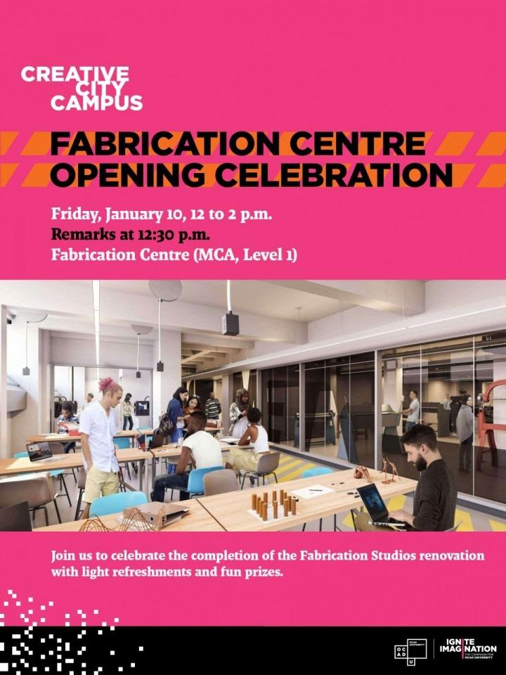 Invitation to Fabrication Centre Reopening Celebration