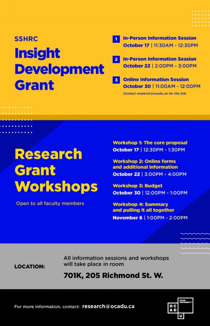 Poster for IDG infosessions