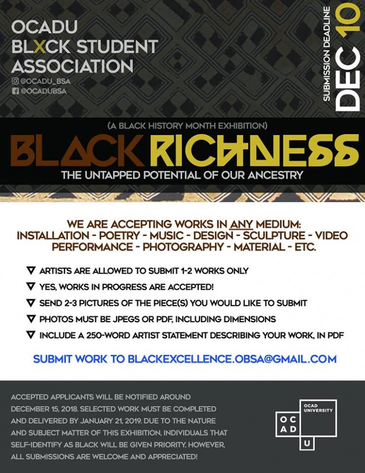 Black Richness call poster